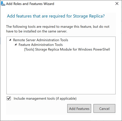 Adding-required-features-for-Storage-Replica-in-Windows-Server-2019 Storage Replica in Windows Server 2019 Features and Configuration