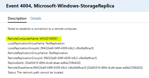 Additional-errors-trying-to-contact-the-primary-Storage-Replica-replication-partner Windows Server 2019 Storage Replica Failover Process