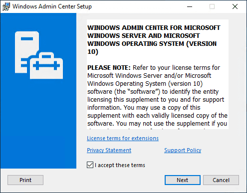 Installing-Windows-Admin-Center-1910 Windows Admin Center 1910 GA Download with New Features