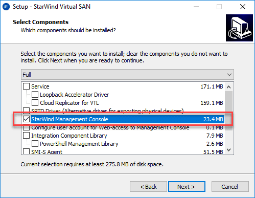 Installing-the-StarWind-Management-Console-component StarWind VSAN for vSphere Virtual Appliances
