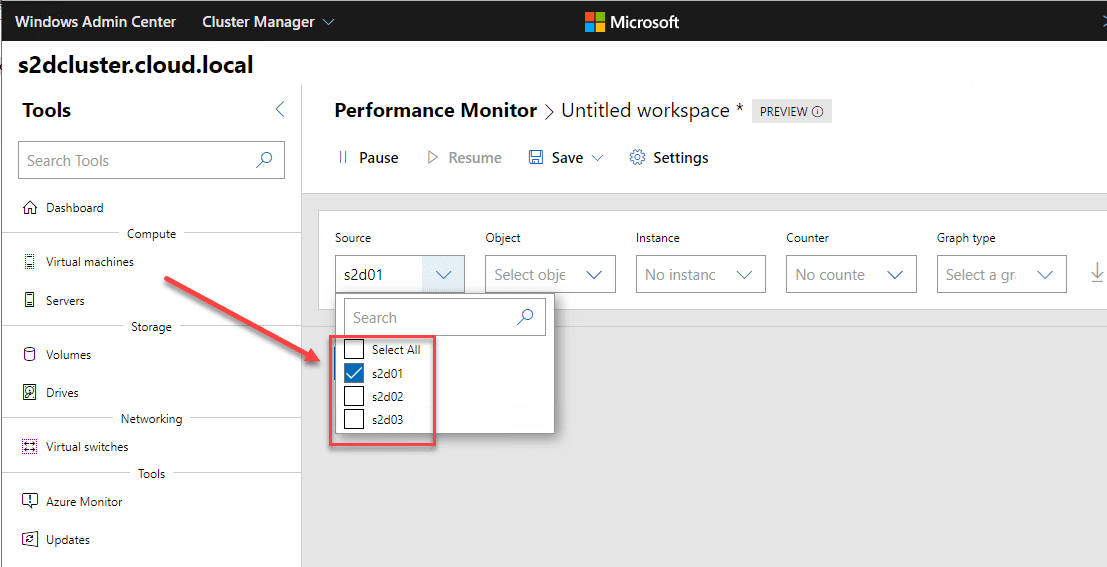 New-Performance-Monitor-provides-cluster-aware-functionality-and-monitoring New Performance Monitor released in Windows Admin Center