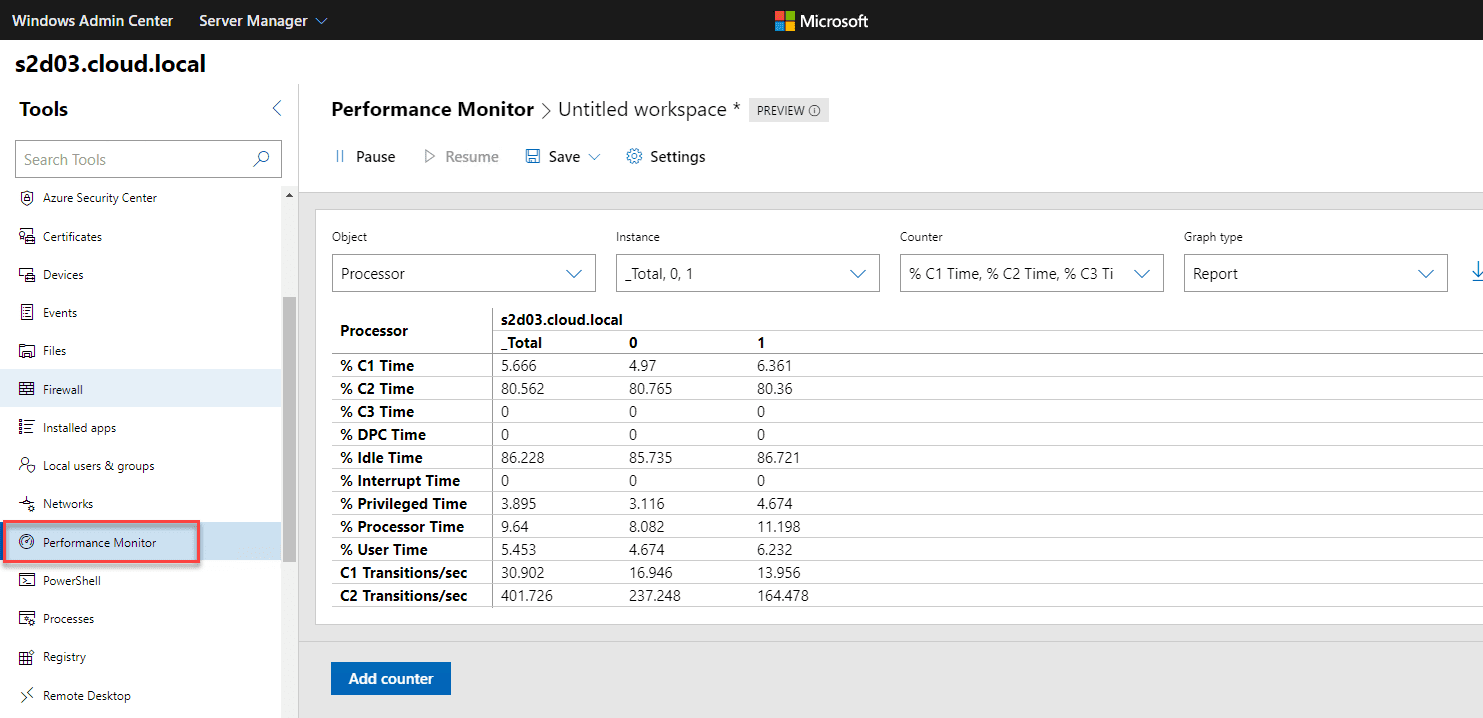 New-performance-monitor-tool-found-in-Windows-Admin-Center-1910 Windows Admin Center 1910 GA Download with New Features