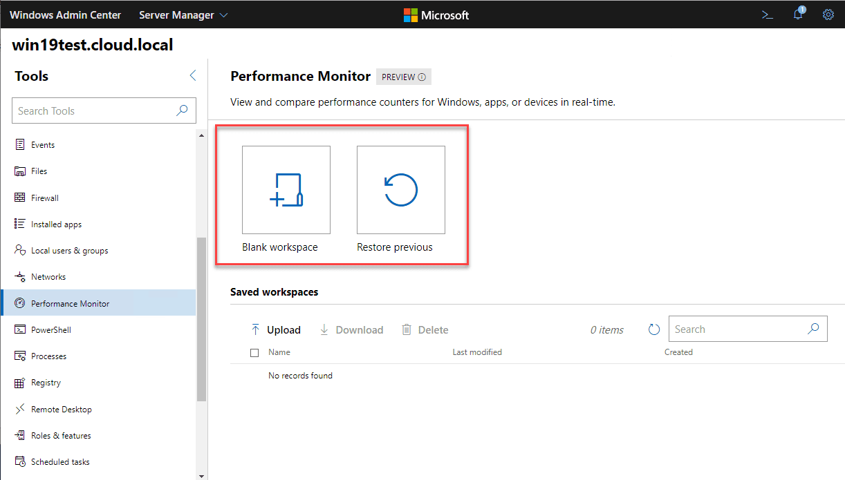 Performance-Monitor-in-Windows-Admin-Center-introduces-Workspaces New Performance Monitor released in Windows Admin Center
