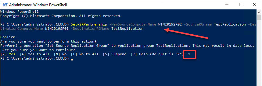 Switching-the-Storage-Replica-partnership-direction-with-PowerShell Windows Server 2019 Storage Replica Failover Process