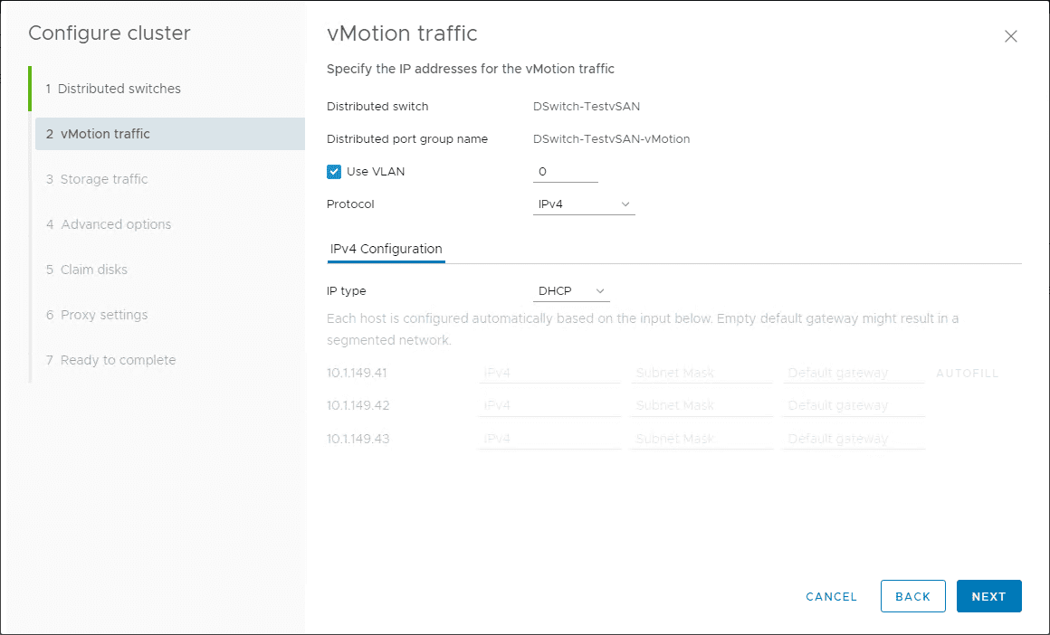 Configure-vMotion-traffic How to Install VMware vSAN