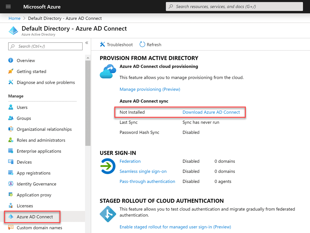 Download-Azure-AD-Connect-from-Azure-AD-portal Sync On-Premises AD with Azure AD using Azure AD Connect