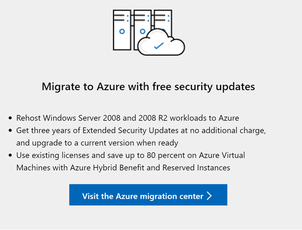 Extended-Security-Updates-for-Windows-Server-2008-R2-migrated-to-Azure Windows Server 2008 R2 End of Life Near