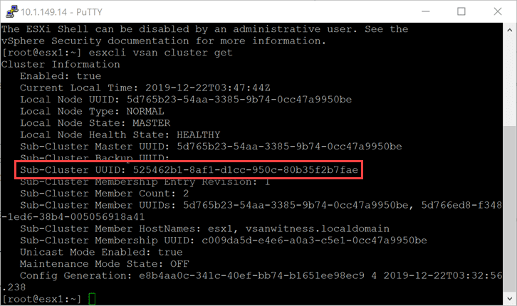 Getting-the-Sub-Cluster-UUID-for-adding-ESXi-host-back-to-vSAN-cluster Rebuild Failed vSAN ESXi Host