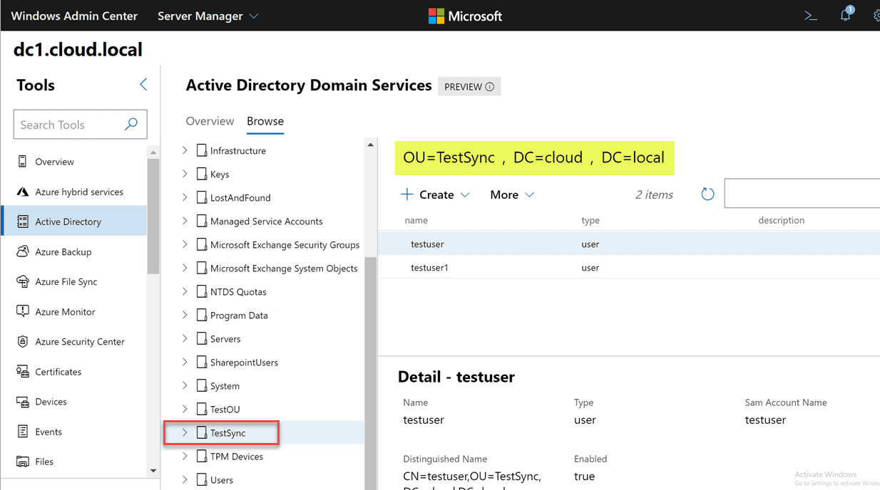 Locating-an-object-with-Windows-Admin-Center-Active-Directory-locate-feature