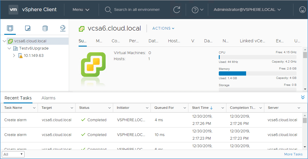 Logging-into-the-new-HTML5-interface-of-the-upgraded-vCenter-Server-6.0-to-6.7 Upgrade vSphere 6.0 to 6.7 - vCenter Server VCSA