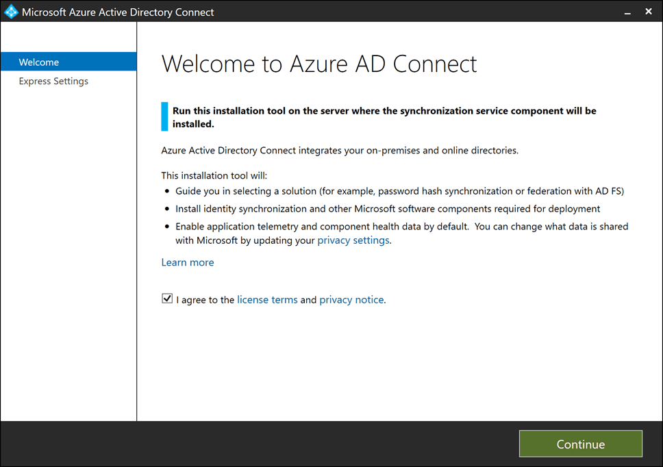 Overview-of-Azure-AD-Connect-and-EULA Sync On-Premises AD with Azure AD using Azure AD Connect