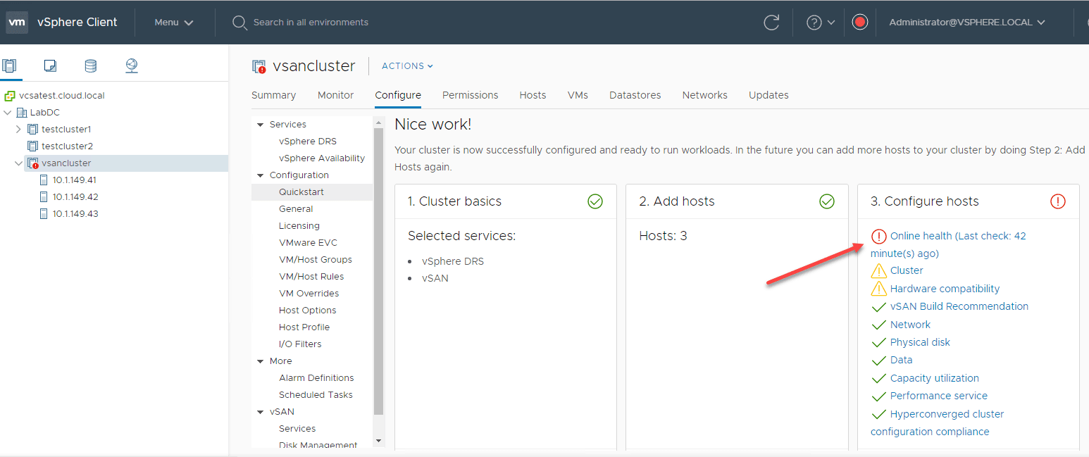 Step-Three-finishes-make-note-of-any-errors How to Install VMware vSAN