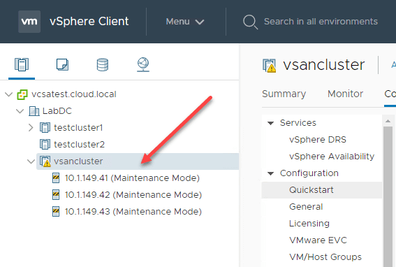 The-ESXi-hosts-are-added-and-placed-into-maintenance-mode How to Install VMware vSAN