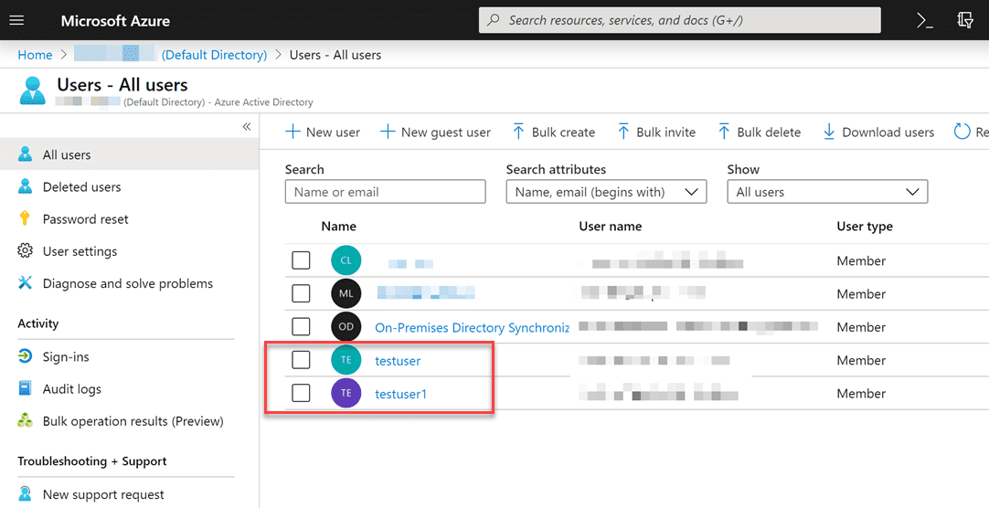 Verifying-the-on-premises-users-are-created-in-Azure-AD Sync On-Premises AD with Azure AD using Azure AD Connect