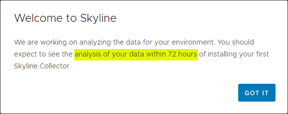 Access-to-your-data-will-take-up-to-72-hours How to Install and Configure VMware Skyline