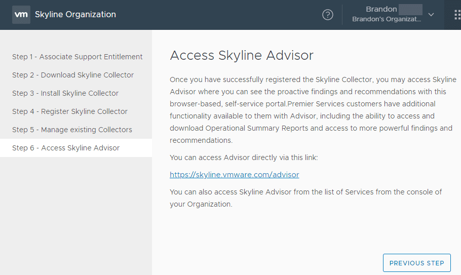 Access-your-Skyline-Advisor-environment How to Install and Configure VMware Skyline