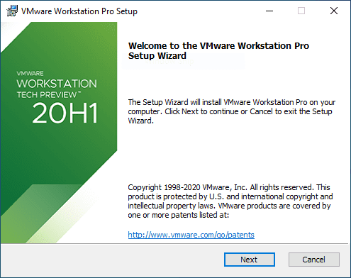 Beginning-the-VMware-Workstation-20H1-Tech-Preview-installation VMware Workstation 20H1 Tech Preview Download Released New Features