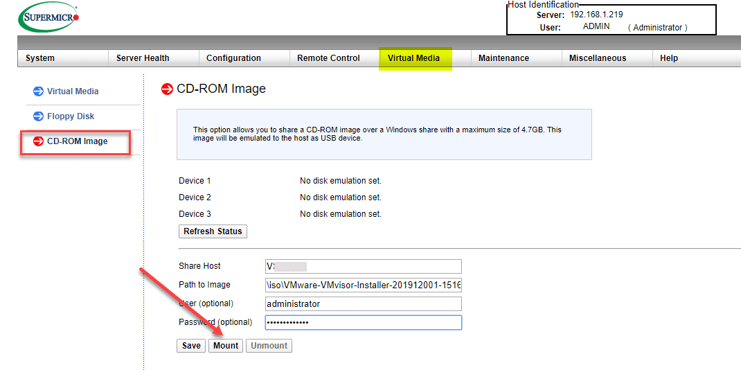 Enter-your-share-host-and-path-to-the-ISO-image VMware ESXi Remote Install using SuperMicro IPMI