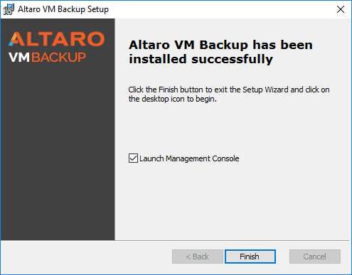 Installation-finishes-and-ready-to-launch-the-Altaro-management-console Altaro VM Backup Review Part 1