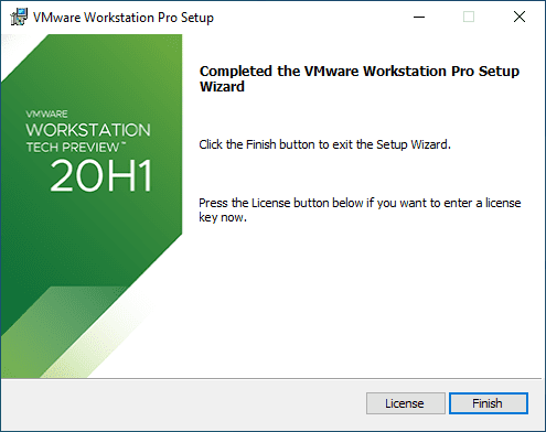 Installation-of-VMware-Workstation-20H1-Tech-Preview-finishes-successfully VMware Workstation 20H1 Tech Preview Download Released New Features