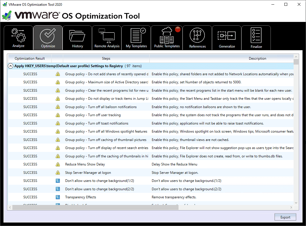 Optimization-result-after-applying-the-recommendations-using-the-VMware-OS-Optimization-Tool VMware OS Optimization Tool New Release Download