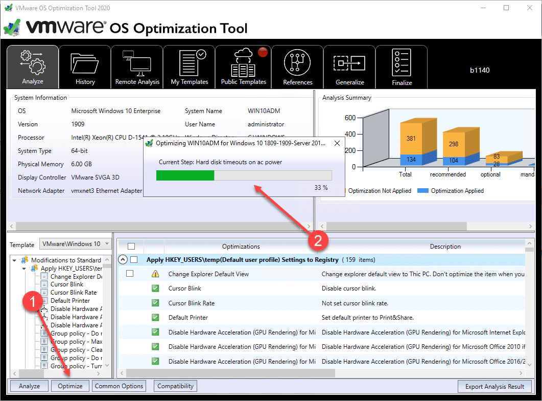 Running-optimize-process-using-the-VMware-OS-Optimization-Tool VMware OS Optimization Tool New Release Download