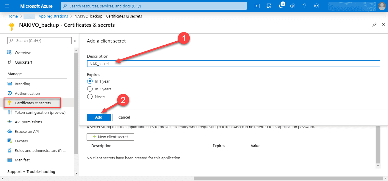 Add-a-description-and-select-a-term-length Backup Office 365 Email with NAKIVO