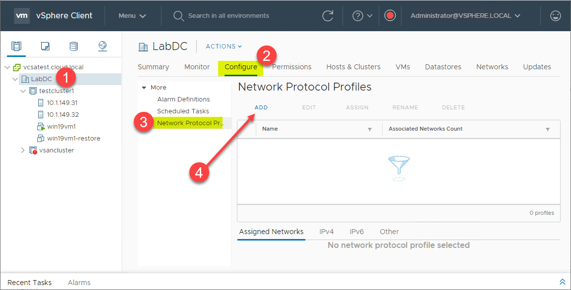 Adding-a-Network-Protocol-Profile-in-the-new-vSphere-6.7-vSphere-Client vSphere 6.7 vSphere Client IP Pools