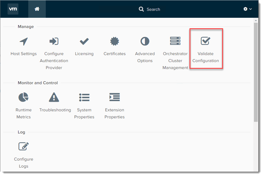 After-logging-into-the-Control-Center-for-vRO-8.0 vRealize Orchestrator 8.0 Download Install and Configuration