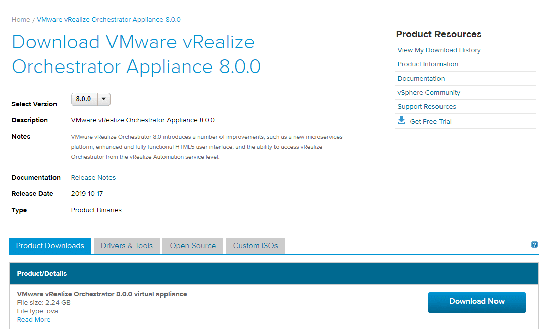 Download-VMware-vRealize-Orchestrator-8.0 vRealize Orchestrator 8.0 Download Install and Configuration