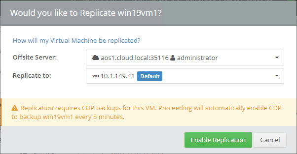 Enabling-CDP-for-Altaro-VM-Backup-replication Altaro VM Backup Review Part 2