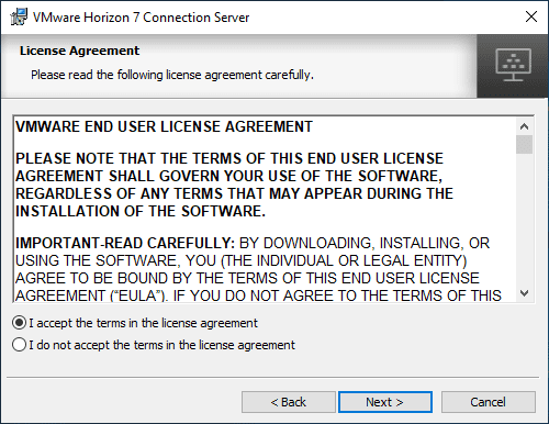 Accepting-the-EULA-for-Horizon-Connection-Server-7.11-installation
