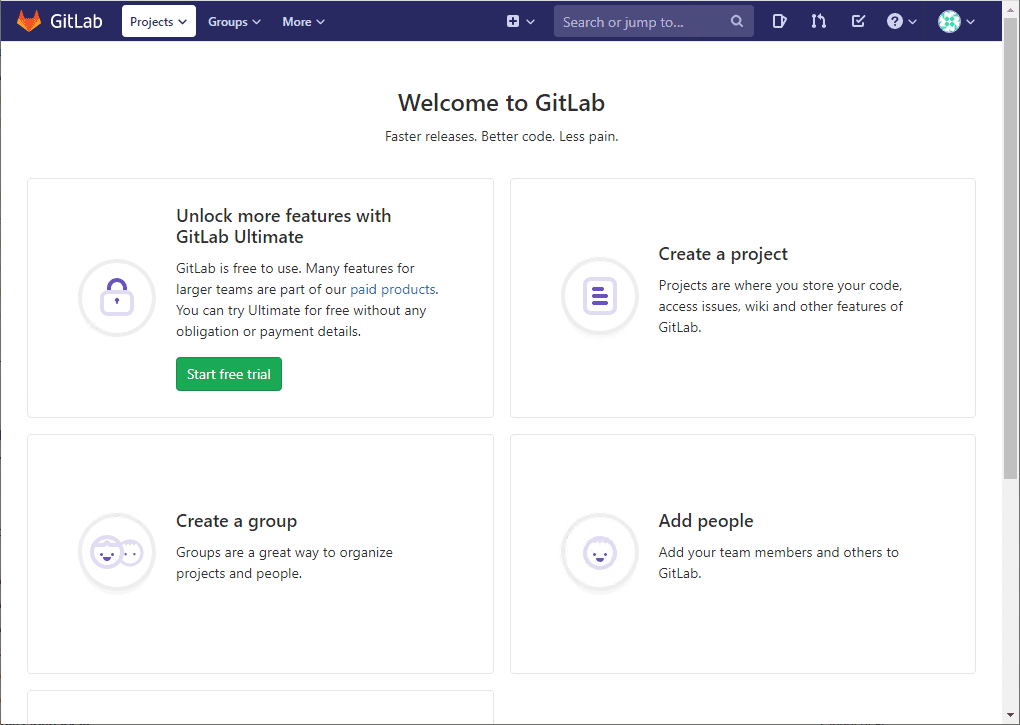 After-successfully-logging-into-the-newly-installed-GitLab-server Install GitLab Ubuntu 18.04 and UTF-8 Error