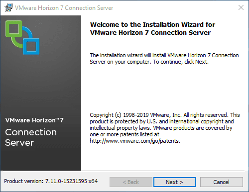 Launching-the-Horizon-Connection-Server-7.11-installation