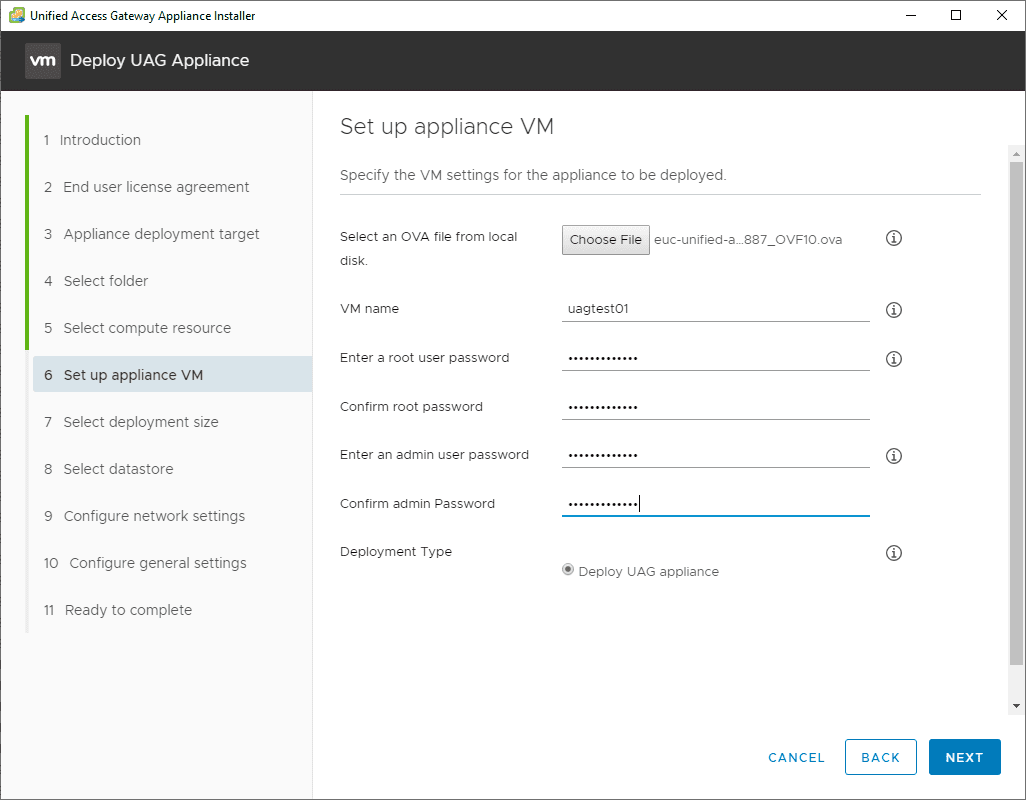 Setup-the-appliance-VM Deploy VMware UAG with New Unified Access Gateway Deployment Utility Fling