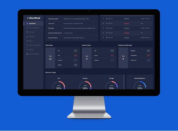StarWind-Command-Center-provides-HCI-dashboards-to-control-your-HCA 2 Node Hyper Converged Cluster with StarWind All-Flash HCA