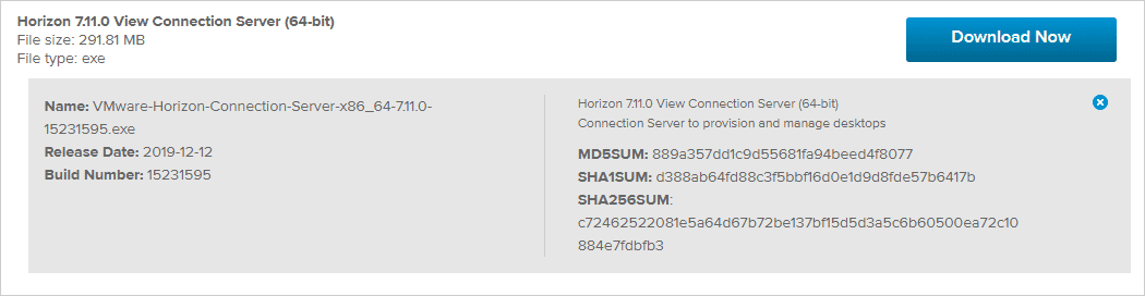 VMware-Horizon-Connection-Server-7.11-download-details