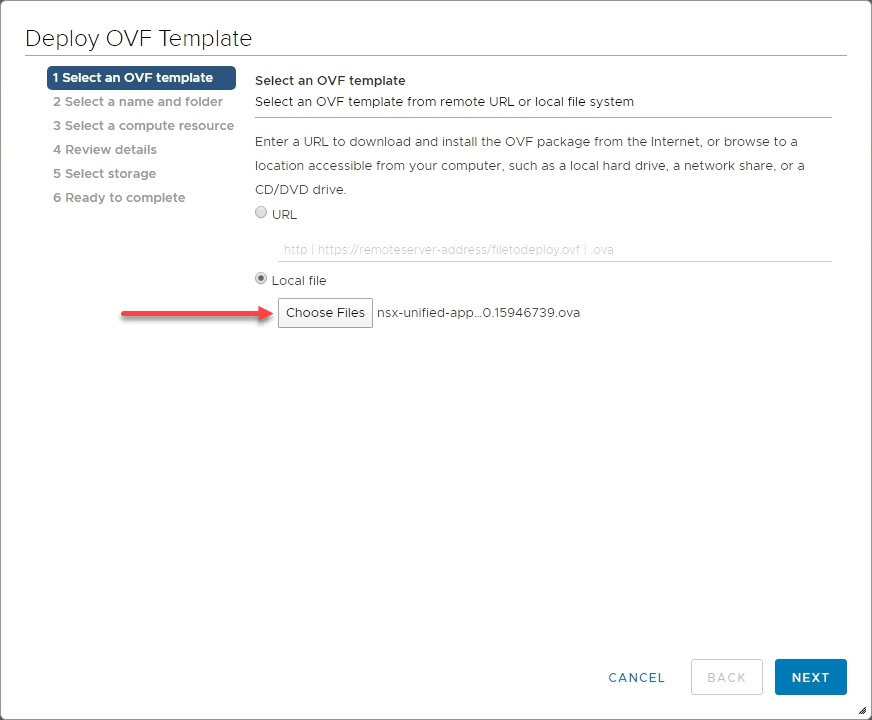 Browse-to-the-NSX-T-3.0-Manager-OVA VMware NSX-T 3.0 Manager Installation Configuration and Error