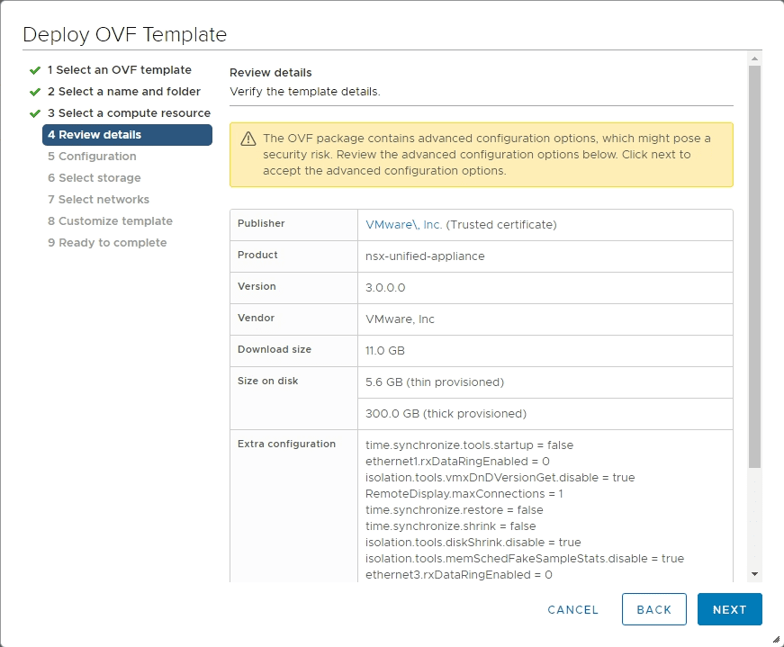 Review-the-details-of-the-initial-NSX-T-Manager-OVA-deployment-1 VMware NSX-T 3.0 Manager Installation Configuration and Error