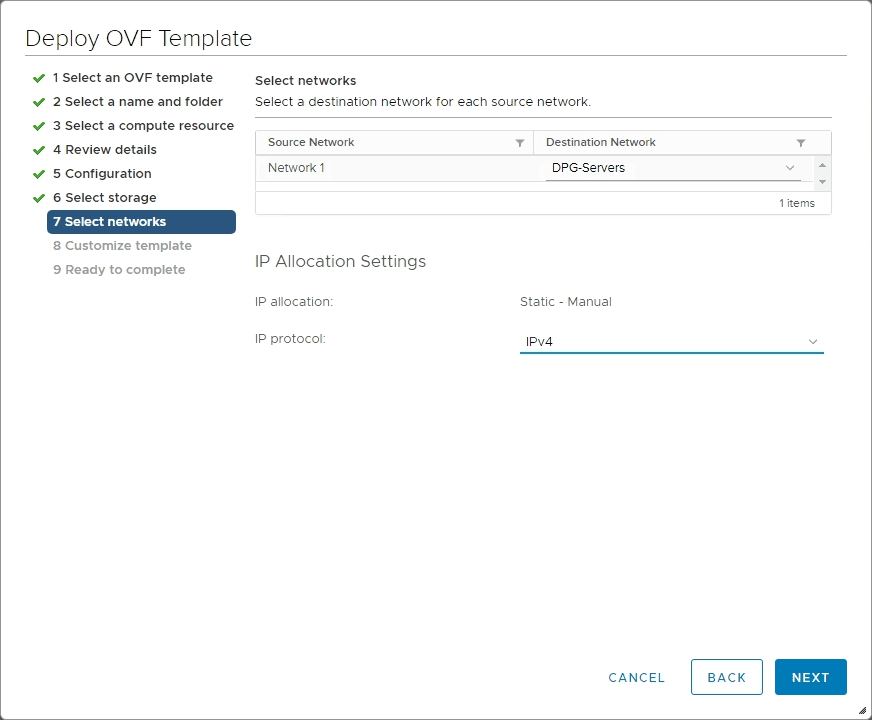 Select-network-to-connect-the-NSX-T-3.0-manager VMware NSX-T 3.0 Manager Installation Configuration and Error