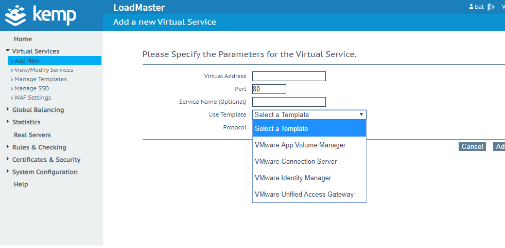 Setting-up-new-virtual-services-for-VMware-Horizon-7-Connection-Servers-App-Volumes-or-UAG
