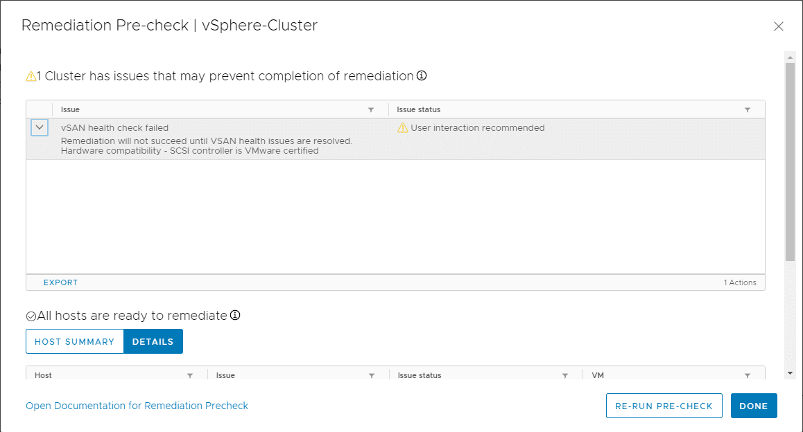 Take-note-of-any-problems-noted-in-the-remediation-check-1 Upgrade to ESXi 7 with vSphere Lifecycle Manager