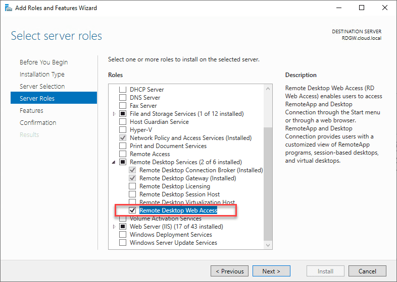 2020-05-18_11-10-09 Windows Server 2019 RD Web Access Configuration
