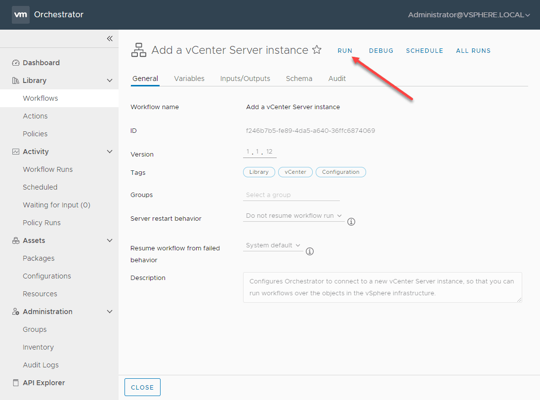 Add-a-vCenter-Server-instance-to-vRO-8.1 VMware vRealize Orchestrator 8.1 New Features and Installation