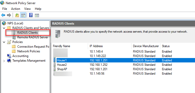 Adding-a-new-RADIUS-client-to-the-Network-Policy-Server