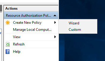 Create-a-new-policy-with-the-wizard-or-custom Remote Desktop Gateway Server 2016 or 2019 Configuration