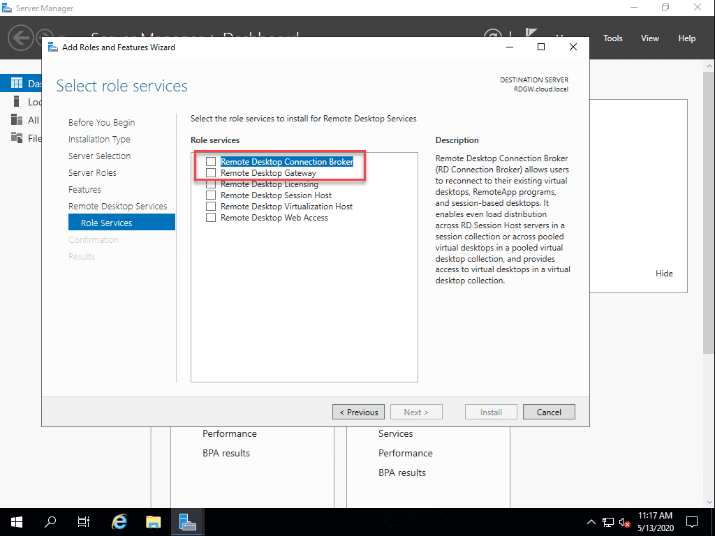 Installing-the-Remote-Desktop-Services-role-services Remote Desktop Gateway Server 2016 or 2019 Configuration