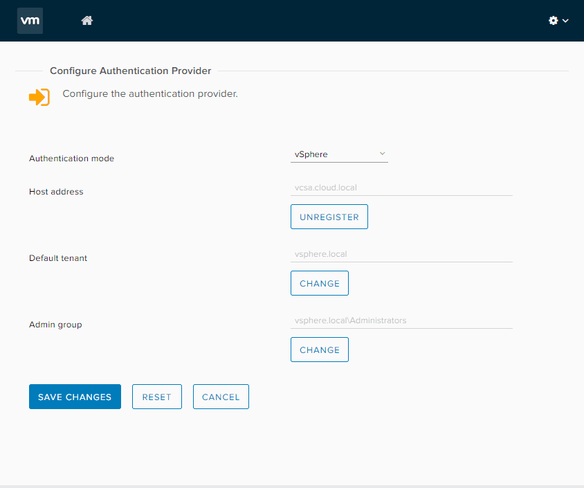 Pick-the-admin-group-for-authentication-provider VMware vRealize Orchestrator 8.1 New Features and Installation