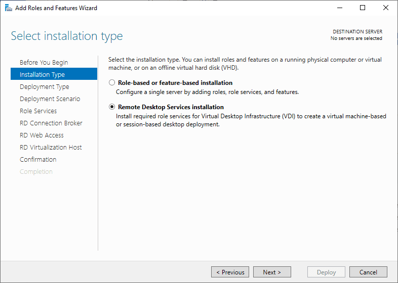 Remote-Desktop-Services-Installation Windows Server 2019 RD Web Access Configuration