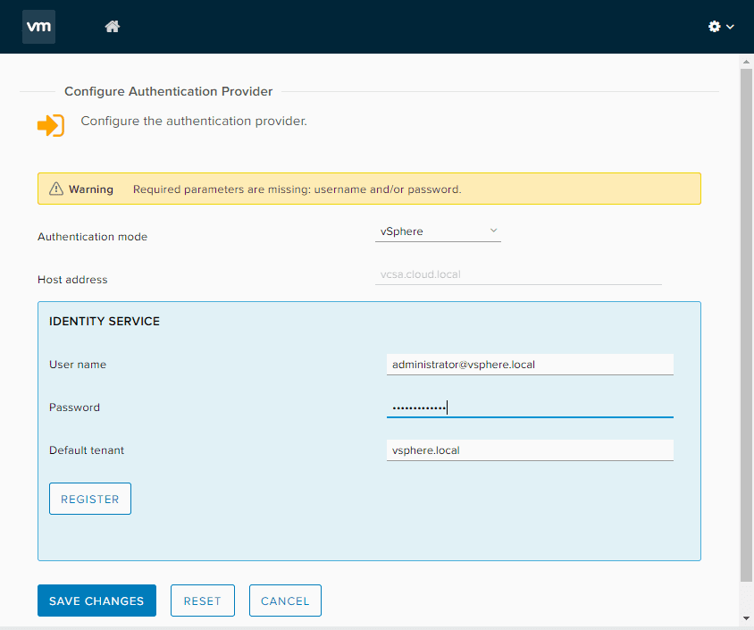 Save-changes-for-the-authentication-provider-configuration VMware vRealize Orchestrator 8.1 New Features and Installation
